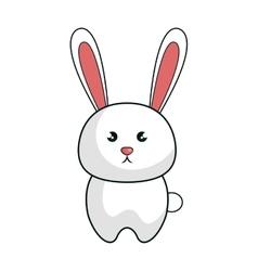 Cute rabbit animal kawaii style vector
