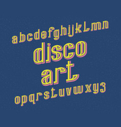 disco art typeface retro font isolated english vector image
