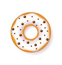 donut begel with cream cookiescookie cake vector image