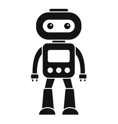 electronic robot icon simple style vector image