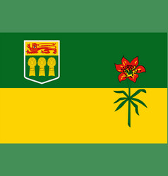Flag saskatchewan in canada vector