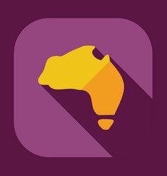 Flat modern design with shadow icons map australia vector