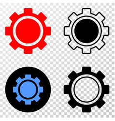 gear eps icon with contour version vector image
