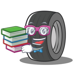 Geek tire character cartoon style vector