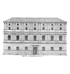 Giraud palace at rome rome are the cancelleria vector