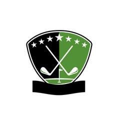 Golf club academy vector