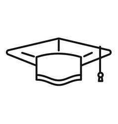 Graduation hat icon outline college vector