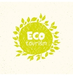 Hand drawing eco tourism logo templates vector