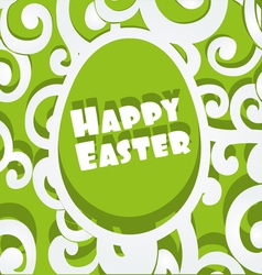 Happy Easter egg openwork appliques banner vector image