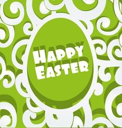 Happy Easter egg openwork appliques banner vector