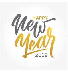 happy new year 2019 lettering two colored text vector image