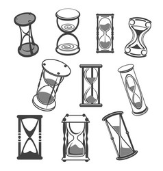 hourglass isolated icons set vector image