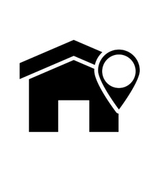 house and gps map pointer icon vector image