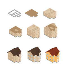 House building construction vector