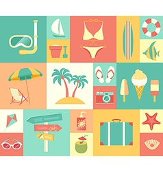 icons summer vector image