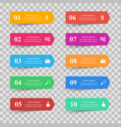 infographic design list of 10 items vector image