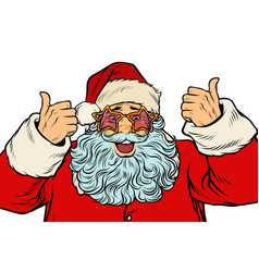 isolated santa claus in the star glasses vector image