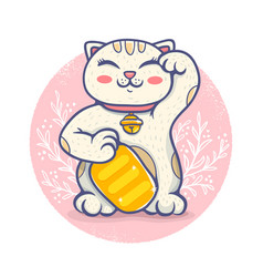 kawaii lucky cat vector image