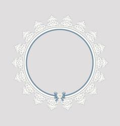 Lacy doily frame vector