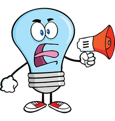 Light bulb yelling into microphone vector