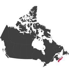 Map of canada - nova scotia vector