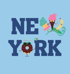 new york brooklyn sport wear typography emblem t vector image