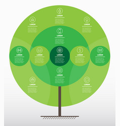 organic go green concept eco poster infographics vector image