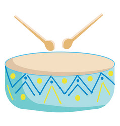 painting a musical instrument called drum vector image