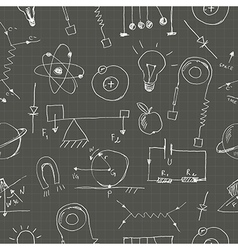 Physics doodles seamless pattern vector
