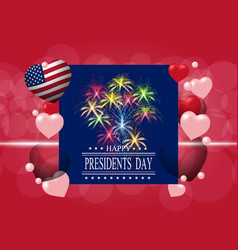 Presidents day greeting card or invitation the vector
