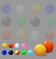 Realistic 3d spheres set bubbles textured ball vector