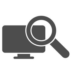 Search computer icon vector