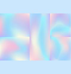 Set liquid chromatic holographic texture vector