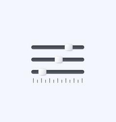 slider bar vector image