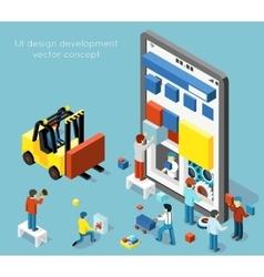 Smartphone UI design development concept in vector image