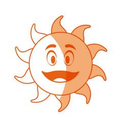 Smiling funny cartoon sun vector