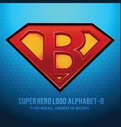 Superhero logo icon with letter b vec vector
