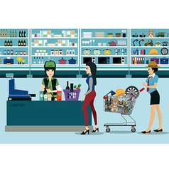 Supermarkets vector image