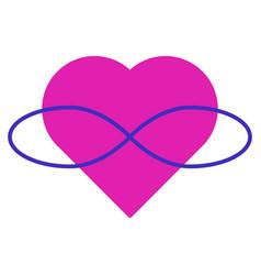 Symbol polyamory heart and infinity endless vector