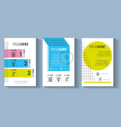 Template set infographic with figures geometrics vector