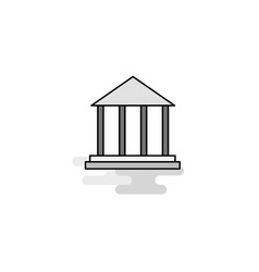 villa web icon flat line filled gray icon vector image
