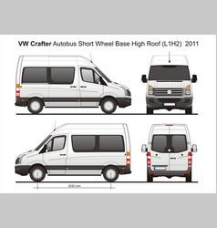 Volkswagen crafter passenger bus l1h2 2011 vector