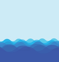 Water wave design vector