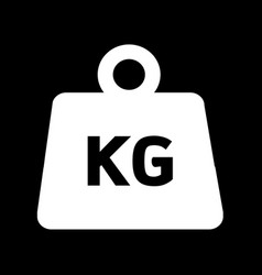 weight kilogram icon design vector image