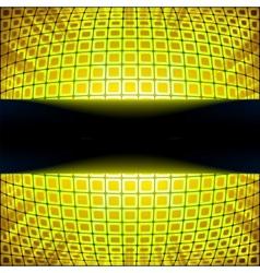 Yellow burst banner vector