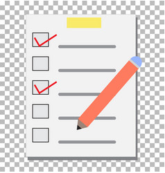check list transparent checklist icon pictogram vector image vector image