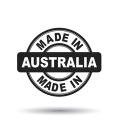 made in australia black stamp on white background vector image vector image