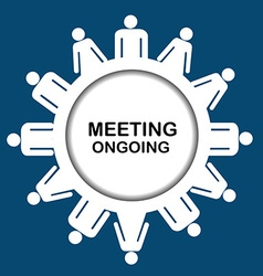 Meeting outgoing icon vector image