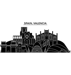 spain valencia architecture city skyline vector image vector image