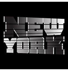 T shirt new york vector